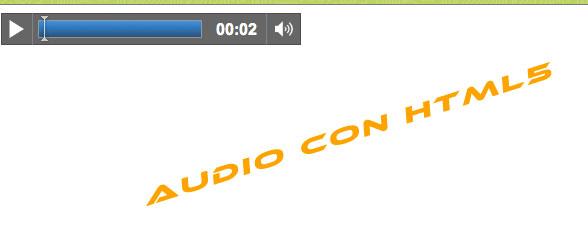 Uso básico de la etiqueta Audio en HTML5