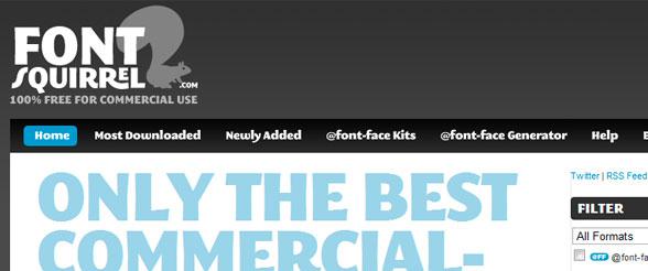 Usa cualquier tipo de fuente en tu web con Font Squirrel facil