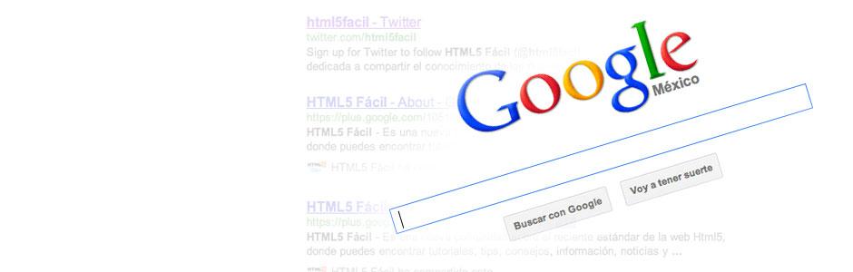 Búsqueda personalizada con Google y Search de HTML5