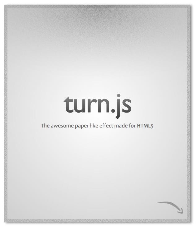 Turn.js: Plugin para JQuery de efecto tirón con HTML5
