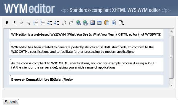 WYMeditor. Editor Web Open Source basado en XHTML