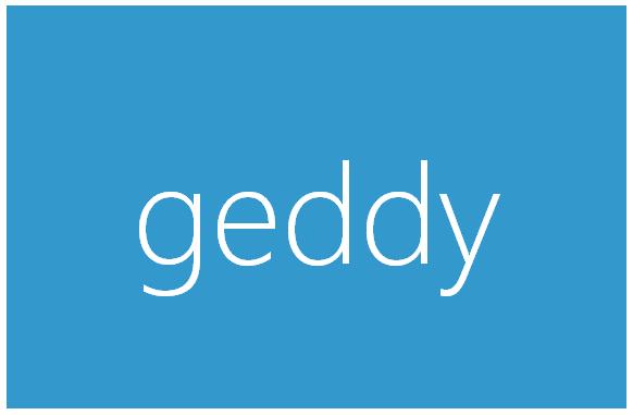 Geddy. Framework web para Node.js
