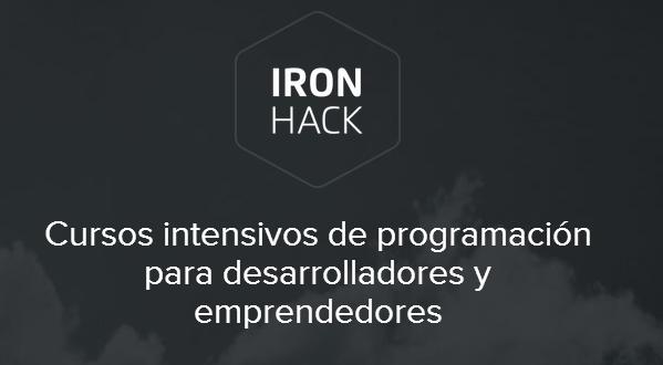 Llega el mejor curso intensivo de desarrollo web y apps con Ironhack