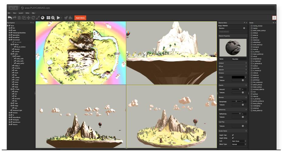 PlayCanvas. La primera plataforma de desarrollo de juegos alojado en la nube.