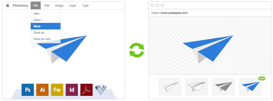 Pixelapse. Control de versiones para diseñadores