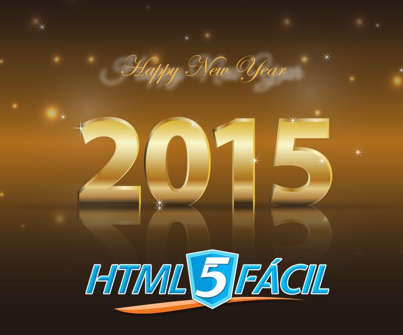 !HTML5 Fácil les desea feliz año nuevo!