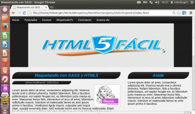 Maquetando con SASS y HTML5. Parte 2