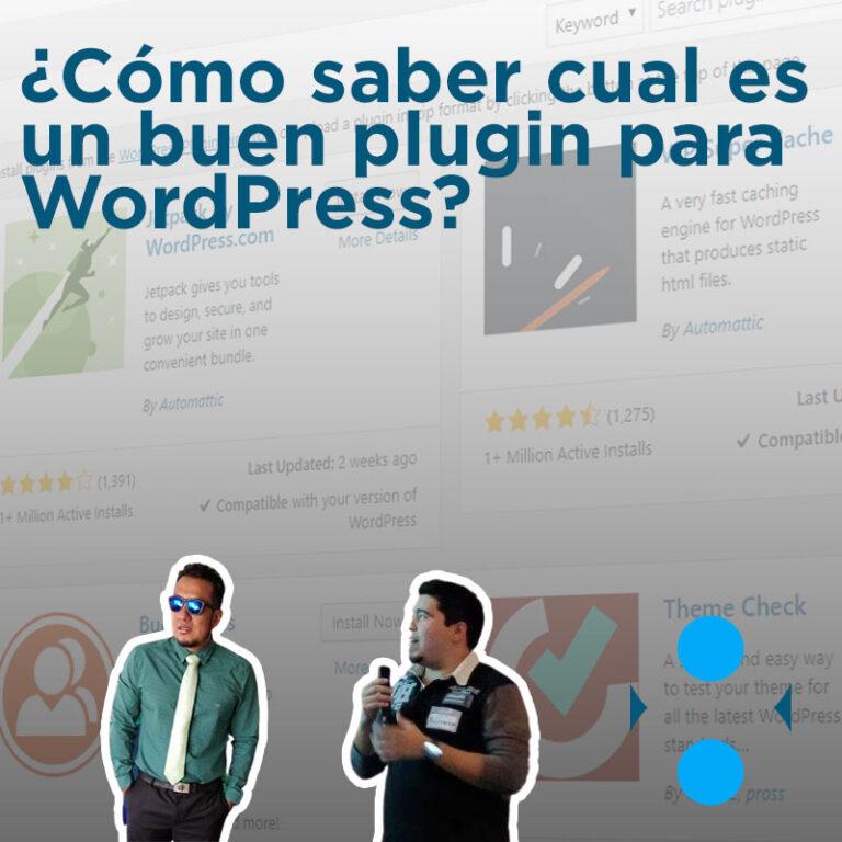 ¿Cómo saber cual es un buen plugin para WordPress?